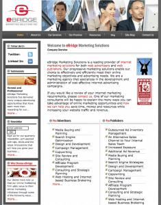 eBridge web design 2