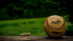 Baseball on a Fence