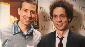 eBridge founder Hartland Ross meeting author Malcolm Gladwell.